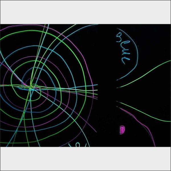 Прозрачная маркерная доска с подсветкой 180х100 см c регулируемыми по высоте опорами